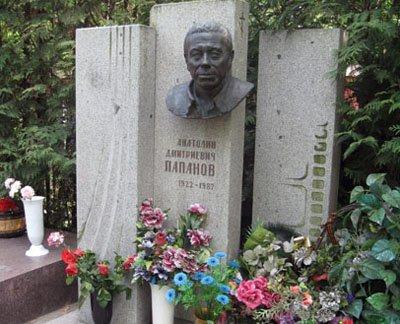 Могила Анатолия Папанова