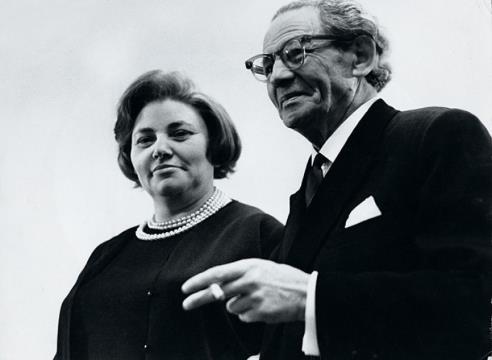 Вольф Мессинг с женой Аидой Раппопорт