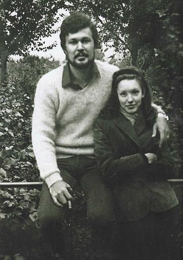 Анна Самохина с первым мужем