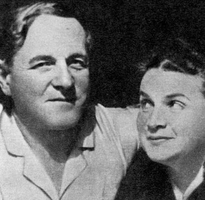 Вера Мухина с мужем Алексеем Замковым в 1938 году
