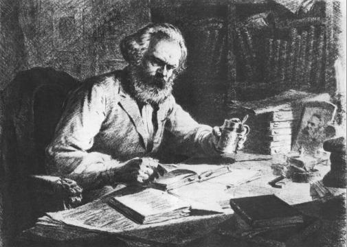 """Карл Маркс в работе над известным """"Капиталом"""""""