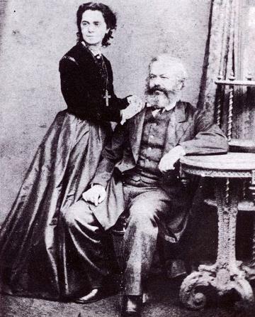 Карл Маркс с женой Женни