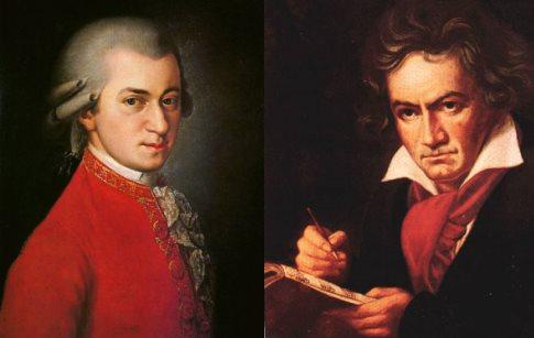 Бетховен и Моцарт