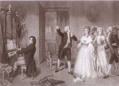 Людвиг Ван Бетховен у Моцарта в Вене