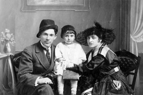 Леонид Утесов с Еленой Ленской и дочкой Эдит