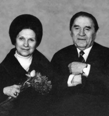 Леонид Утесов и Антонина Ревельс