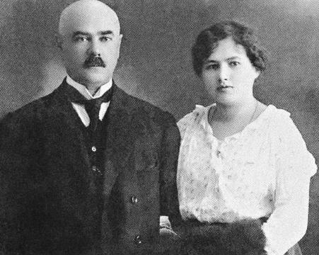 Антон Деникин с Ксенией Чиж незадолго до свадьбы
