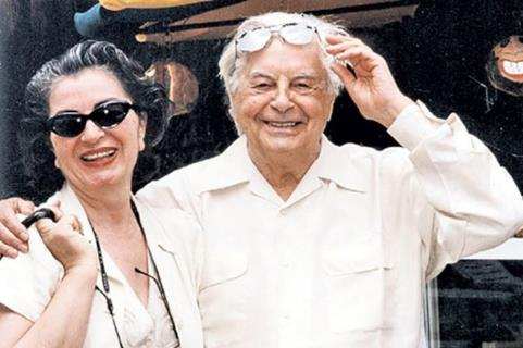 Юрий Любимов и супруга Каталина