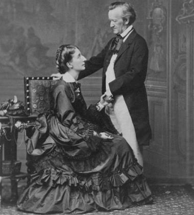 Рихард Вагнер с женой