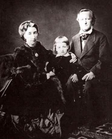 Рихард Вагнер с последней женой Козимой и сыном Зигфридом