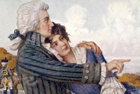 Моцарт с женой