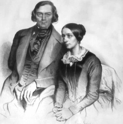 Роберт Шуман с женой Кларой