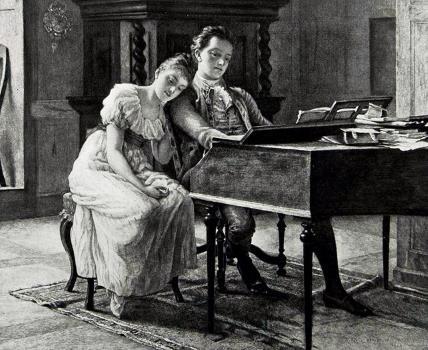 Феликс Мендельсон с сестрой Фанни