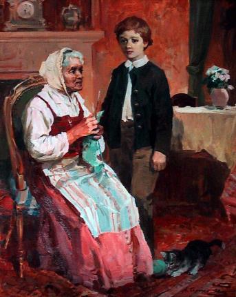 Коля Пирогов в детстве с няней