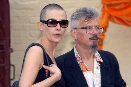 Эдуард Лимонов с актрисой Екатериной Волковой (не путать с другой Волковой Катей)