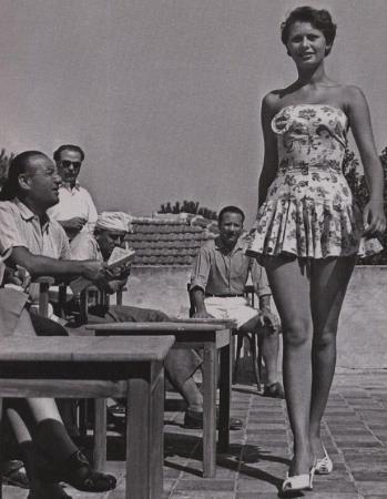 "Лорен На конкурсе красоты ""Мисс Италия-1950"""