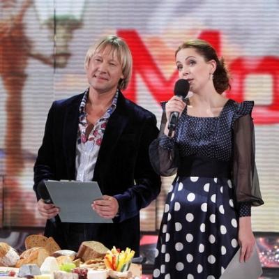 Ольга Будина в роли ведущей на телевидении