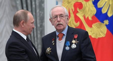 Василий Ливанов с Владимиром Путиным