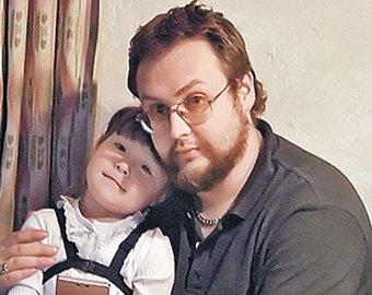 Сын Борис Ливанов с дочкой