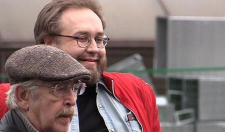 Василий Ливанов с сыном Борисом после освобождения...