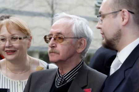 Василий Ливанов с женой и сыном Борисом