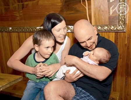 Сергей Трофимов с семьей