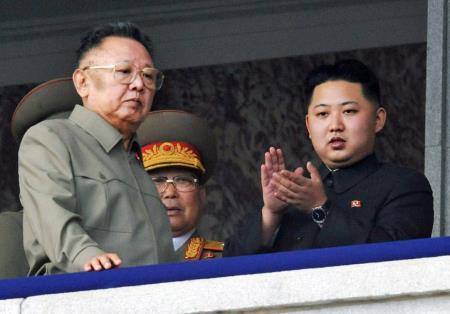 Ким Чен Ир и Ким Чен Ын