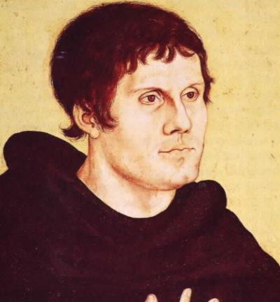 Мартин Лютер в молодости