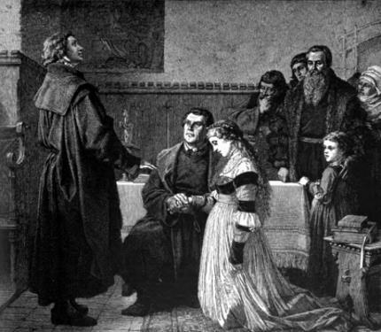 Лютер в 42 года женился на бывшей монахине Катарине фон Бора