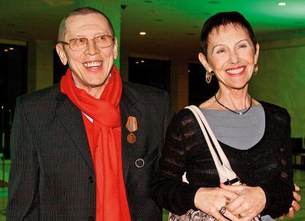 С женой Тамарой