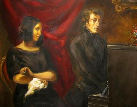 Жорж Санд (псевдоним; настоящее имя - Аврора Дюпен, по мужу- Дюдеван) и Фредерик Шопен