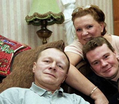 Со второй женой Еленой и приемным сыном Владиславом