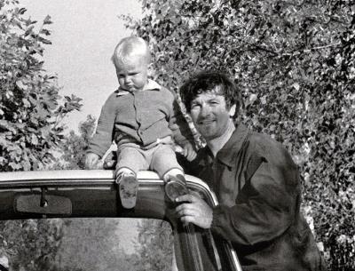 Александр Белявский с сыном Борей