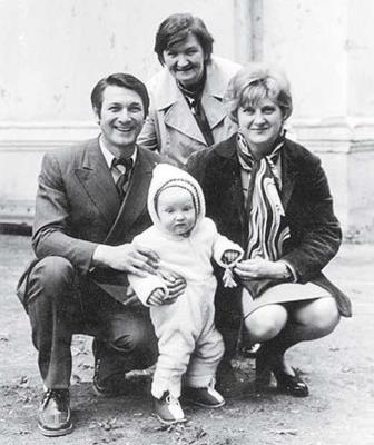 Александр Белявский с первой женой