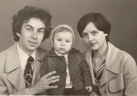 Маленький Дима с родителями