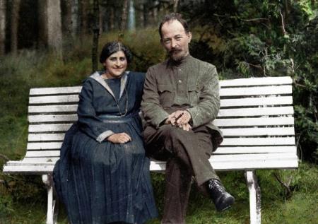 Феликс Дзержинский с женой с Софьей Мушкат