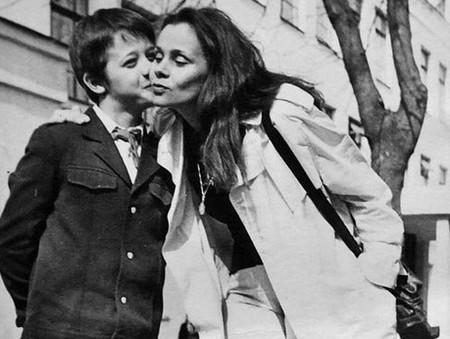 Любовь Полищук с сыном Лешей Макаровым