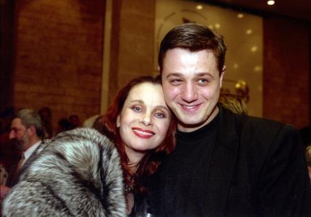 Любовь Полищук и сын Алексей Макаров