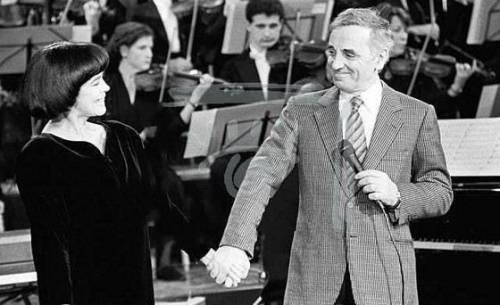 Шарль Азнавур и Мирей Матье