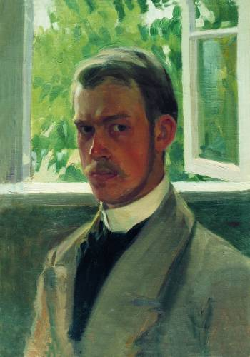 Борис Кустодиев в молодости