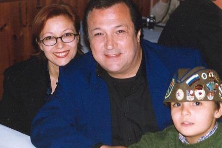 Робертино Лорети с женой Маурой и сыном Лоренцо