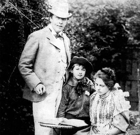 Оскар Уайльд с женой Констанцией