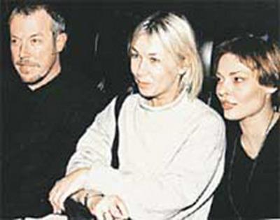 С радиоведущей Ксенией Стриж и гражданской женой Анной Рождественской