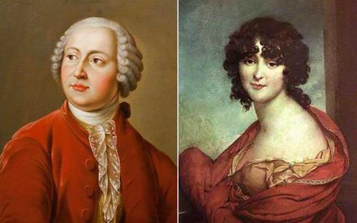 Михаил Ломоносов и его жена Елизавета Цильх
