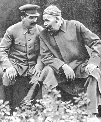 Сталин любил бывать у Горького в гостях