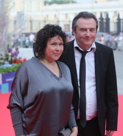 Алексей Учитель с женой Кирой