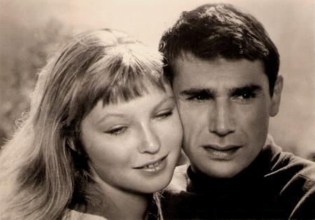 Марина Влади и ее перый муж Робер Оссейн