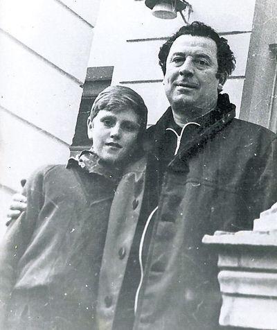 Борис Сичкин с сыном Емельяном