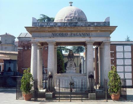 Место захоронения праха Паганини
