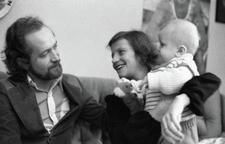 Ольга Корбут и Леонид Борткевич с сыном Ричардом